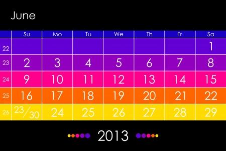 calendar 2013 -June Stock Vector - 15766602