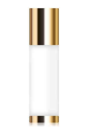 perfume spray: illustration of cosmetic container