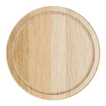 wood board: illustration of cutting board