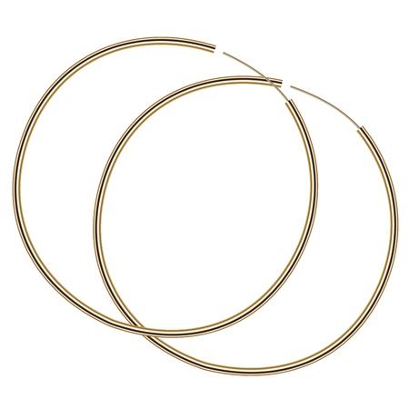 earring: illustration of gold earrings