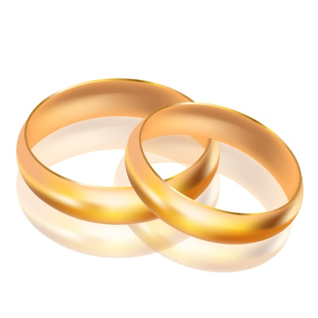 propose: illustration of big and small gold rings