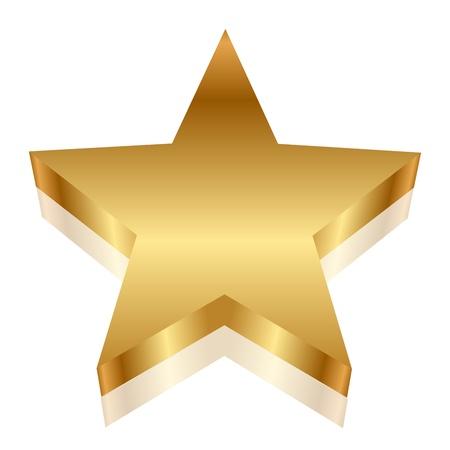 glam: 3d illustration of gold star Illustration