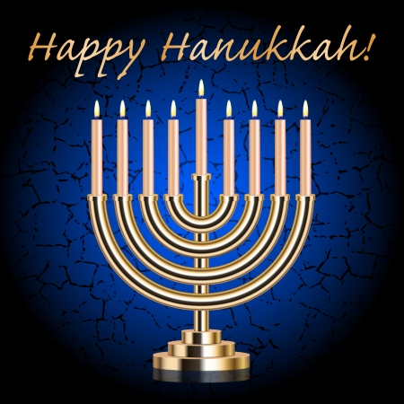 menora: happy hanukkah Illustration