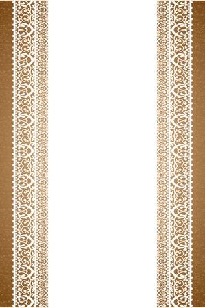 beige stof: achtergrond met servet Stock Illustratie