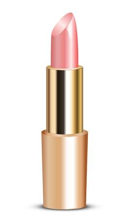 illustration of pink lipstick Stock Vector - 15766763
