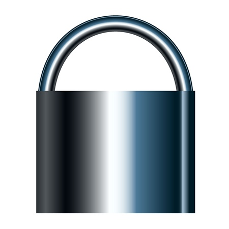 illustration of lock Vector