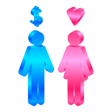 Interests -  icon of man and woman Stock Vector - 15766785