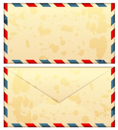 illustration of old airmail envelope Illustration