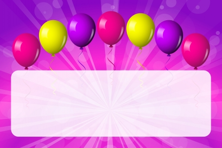 card with shiny balloons Vector