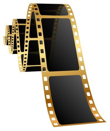 filmnegativ: Illustration der goldenen Folie Illustration