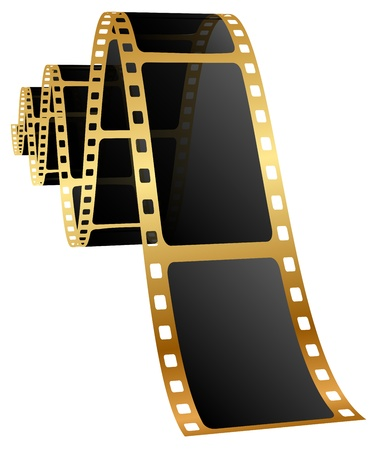 reels: illustration of golden film Illustration