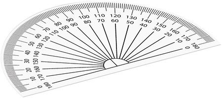 Rapporteur Modele De Papier A Decouper Imprimez Le Sur Du Papier Epais N Importe Quel Format De Page La Mesure D Angle Fonctionne Dans Chaque Format Unite Arithmetique Pour Les Mathematiques La Geometrie Et