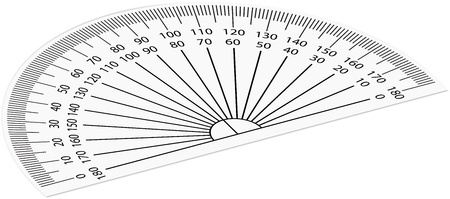 trigonometry: illustration of protractor Illustration
