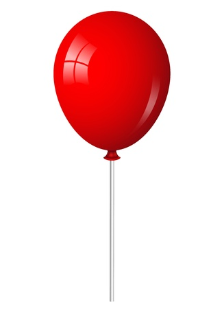 ballon rouge: illustration de ballon rouge sur le b�ton Illustration