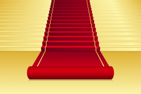 gala: background with red Carpet Illustration