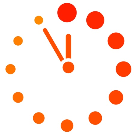 clock icon:  red clock icon Illustration