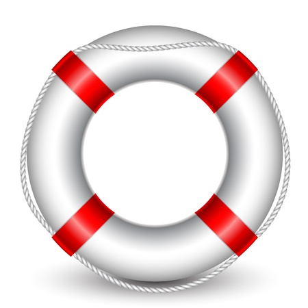 rubber ring: illustration of Life Buoy Illustration