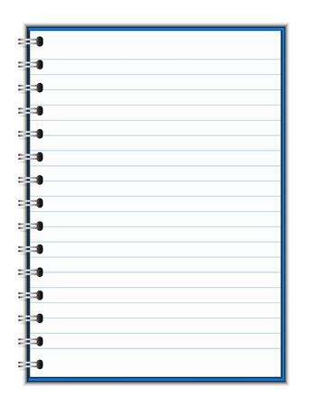 ilustración del cuaderno espiral Ilustración de vector