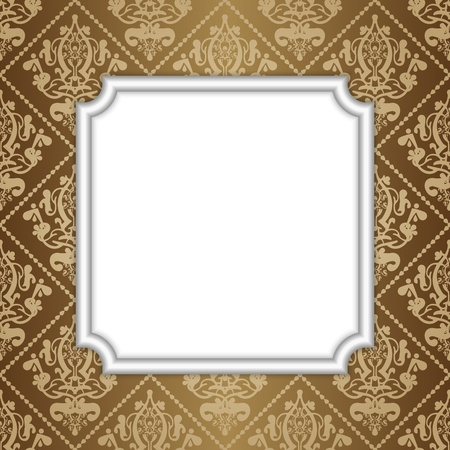 illustration of frame on wallpaper Stock Vector - 15766962