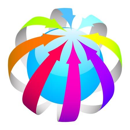 arrows ball Stock Vector - 16196127