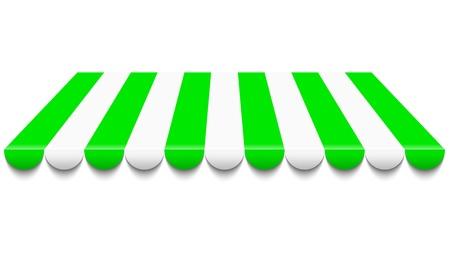 mercado: ilustra��o de toldo verde e branco