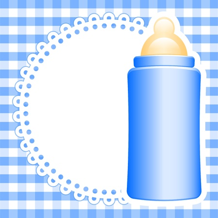 background with baby bottle Vector