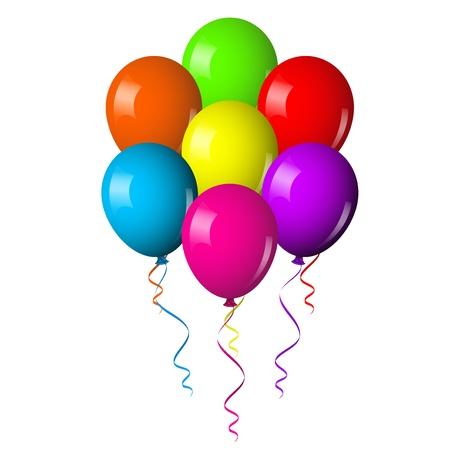 ilustración del ramo de globos de colores