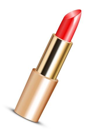 lip gloss: illustration of red lipstick Illustration