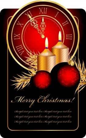 clock hands: christmas background