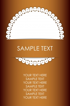 lace doily:  background with napkin