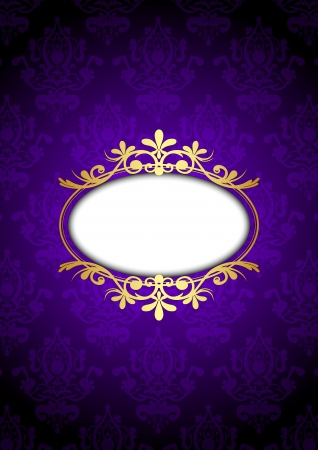 purple pattern:  vintage frame