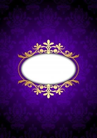 purple wallpaper:  vintage frame