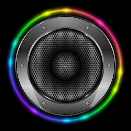 colorful background with Sound Speaker