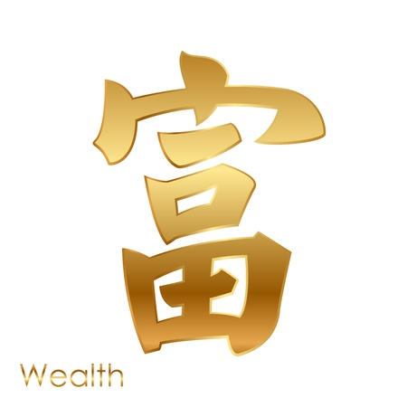 chinese character of good fortune Feng Shui