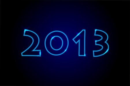 2013 - Nen lights background Stock Vector - 16330906
