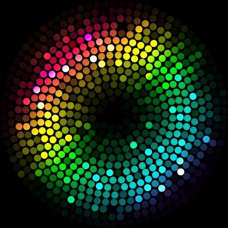 Vecteur de fond avec des lumières colorées