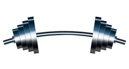 weights: Illustrazione vettoriale di bar