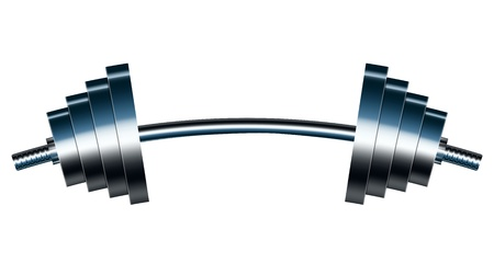 barbell: Vector illustration of bar