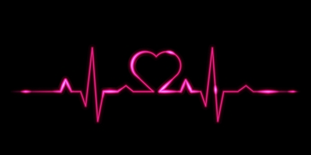 ekg: Cardiogram of love - vector illustration