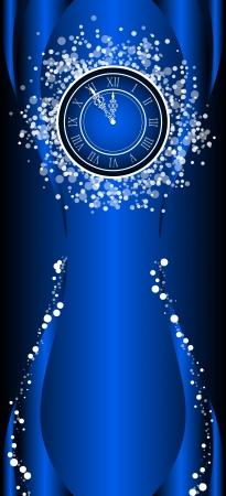 Neues Jahr wünschen Karte mit Uhr