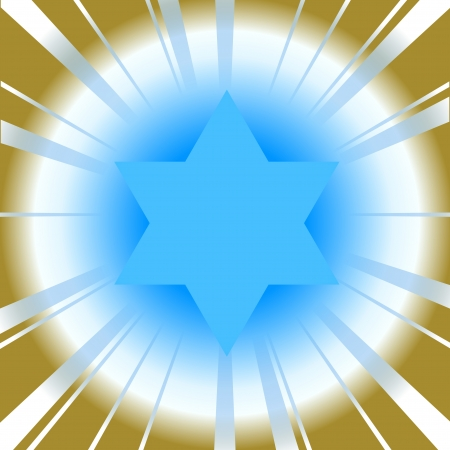 Vector background with star of david Illustration