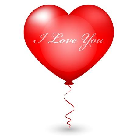 Vector illustration of heart balloon Stock Vector - 16331034