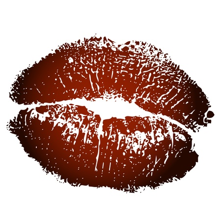 Vector illustration of brown kiss print Stock Vector - 16331040