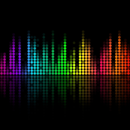 audio wave: Vector music volume abstract background