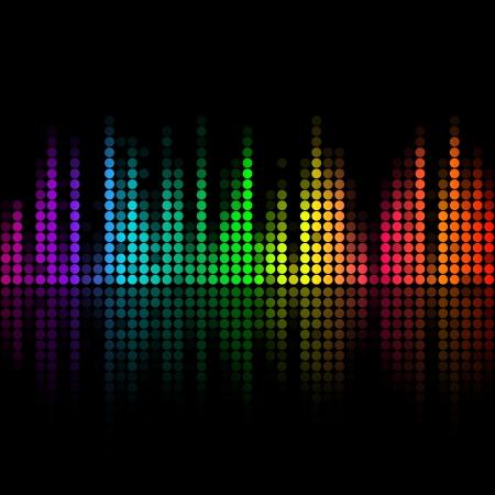Vector muziek volume abstracte achtergrond