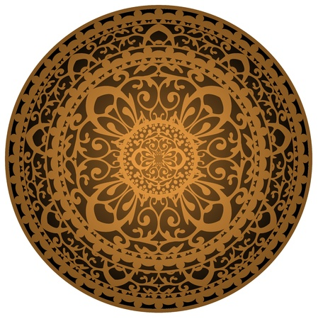 rugs: Vector illustration of brown rug