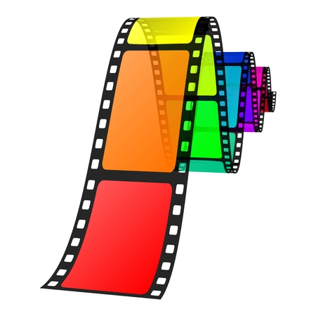 series: Vector illustration of colorful film