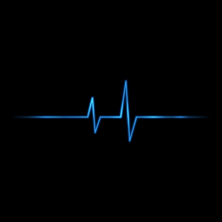 electrocardiogram: Vector pulse background