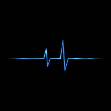 elettrocardiogramma: Vector sfondo di impulsi