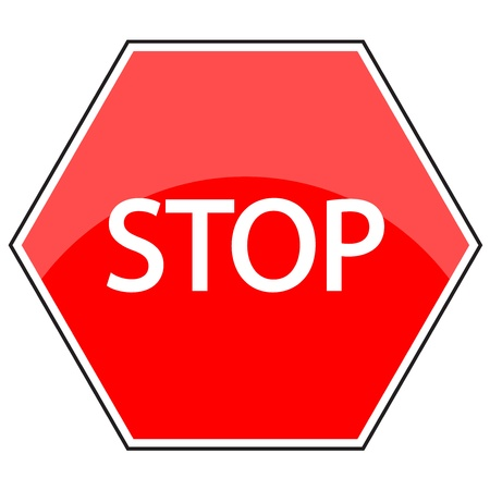 hazard sign: Vector Illustration of stop sign